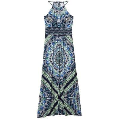 ロンドンタイムス レディース ワンピース トップス Print Matte Jersey Morris Maxi Dress