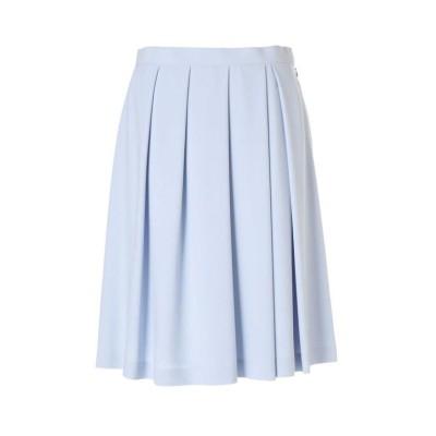 (NATURAL BEAUTY LARGE/ナチュラルビューティラージサイズ)ソフトドビークロススカート/レディース ブルー