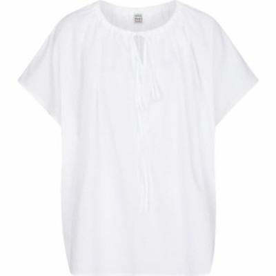トーテム Toteme レディース ブラウス・シャツ トップス Gathered blouse Off White
