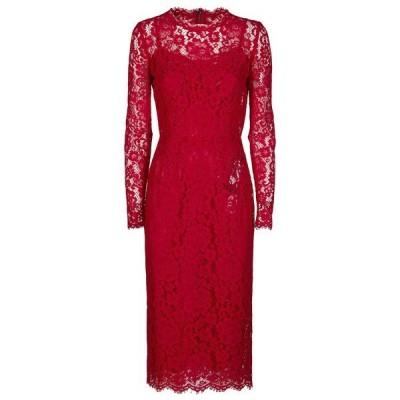 ドルチェ&ガッバーナ レディース ワンピース トップス Dolce & Gabbana Long Sleeve Lace Dress -