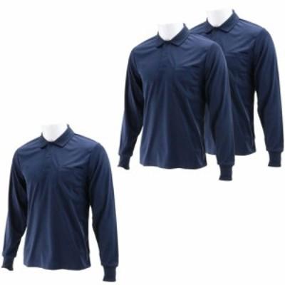 SK11 長袖ポロシャツ ネイビー LLサイズ  LL-NVY-3P(3枚入)[Tシャツ(アパレル(男性用))]