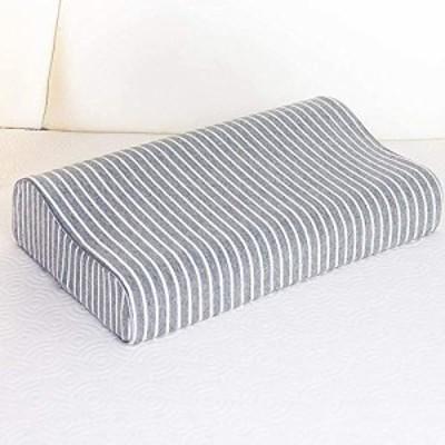 【送料無料】枕カバー 綿100% ニット素材 滑らか 柔らかい ブラウン 色褪せない 防ダニ 抗菌 防臭 (「低反発枕とジェル枕に対応」カバー)