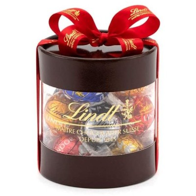 リンツ (Lindt) チョコレート リンドールギフトボックス 12個入り ショッピングバッグS付