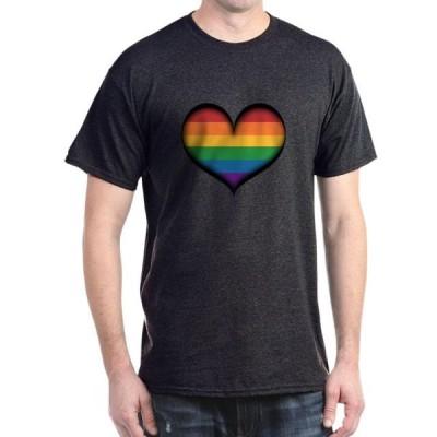 ユニセックス 衣類 トップス CafePress - LGBT Rainbow Heart T Shirt - 100% Cotton T-Shirt Tシャツ
