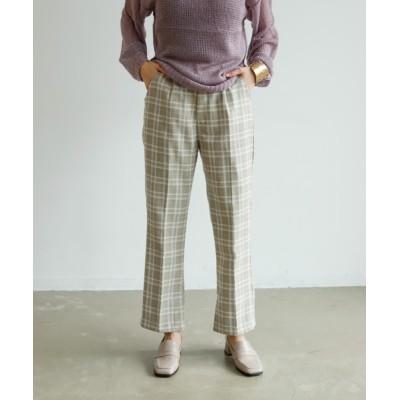 Birthdayroom / チェック柄フルレングセンタープレスタック入りスストレート柄パンツ WOMEN パンツ > スラックス