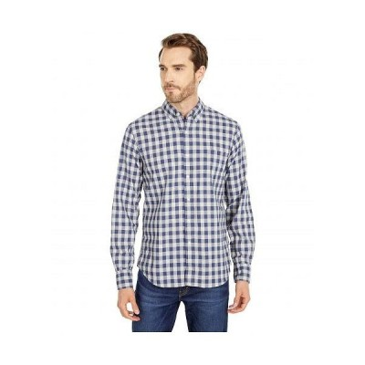 J.Crew メンズ 男性用 ファッション ボタンシャツ Slim Organic Stretch Wash Woven Shirt in Heather Hudson Gingham - Heather Hudson Gingham Grey/Blue