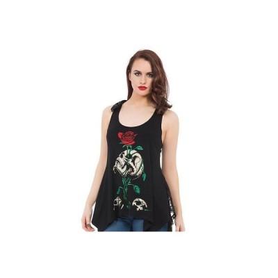 ブラウス ジョーブレイカー レディース Jawbreaker Reborn ファッション タンクトップ ブラック Skulls ローズ Punk Goth