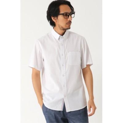 【イッカ】 麻混ボタンダウンシャツCOOLMAX メンズ ホワイト S ikka