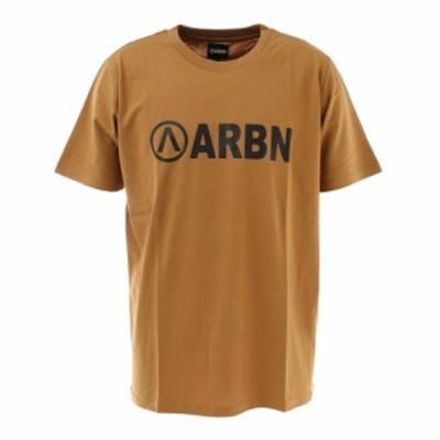 エアボーン(ARBN)ロゴTシャツ SSAIRB-O002BEG/BLK(Men's)