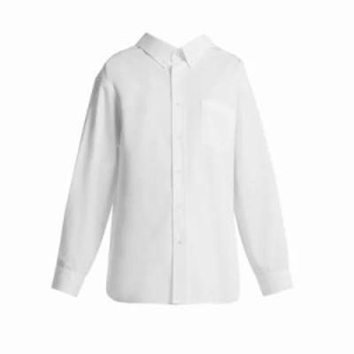 バレンシアガ ブラウス・シャツ Swing cotton shirt White