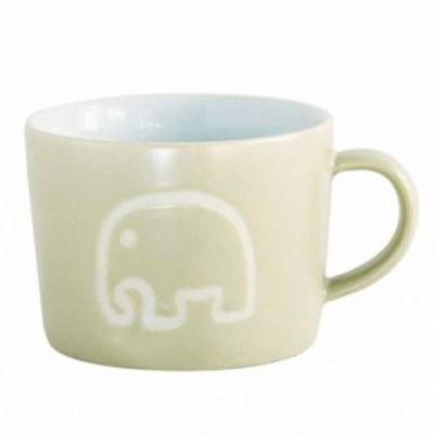 スパイス マグカップ プチママン 陶器 コップ 子供用 エレファント ベージュ 約口径8.5×幅(持ち