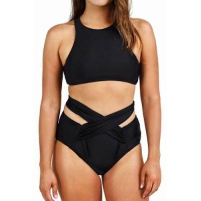 スポーツ用品 スイミング Cupshe NEW Black Womens Size Medium M Bikini Wrap-Front Solid Swimwear #499