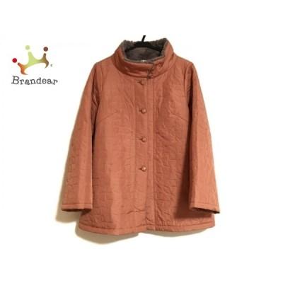 ホコモモラ コート サイズ40 XL レディース 美品 - ライトブラウン 長袖/キルティング/冬 新着 20210121