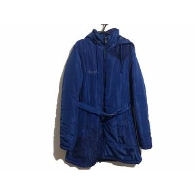 デシグアル Desigual ダウンコート サイズEUR 40 レディース ブルー×黒 冬物【中古】20201106