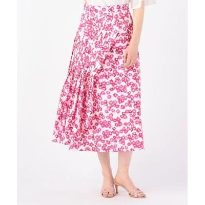 TOMORROWLAND/トゥモローランド MERLETTE  ALMIJARA プリーツステッチスカート 32 ピンク系 2