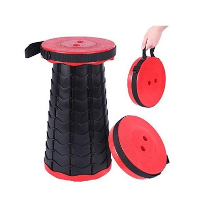 Homemari Folding Stools Telescopic Portable Stool Retractable Folding Stool Collapsable Stool Fishing Chair Seat for Fishing Camping Outdoor