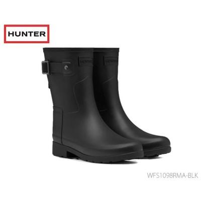 ハンター HUNTER レディース オリジナル リファインド ショートブーツ ブラック  国内正規品  Refined Slim Fit Short Rain Boots WFS1098RMA BLK