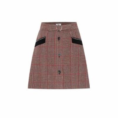 ミュウミュウ Miu Miu レディース ミニスカート スカート Checked wool-blend skirt Rosso