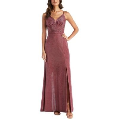 ナイトウェイ Nightway レディース パーティードレス ワンピース・ドレス Mesh-Inset Shimmer Gown Rose