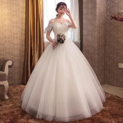 ウエディングドレス 安い ロングドレス 結婚式 半袖 マタニティドレス 花嫁 ウェディングドレス 二次会 エンパイア お呼ばれ ブライダル 大きいサイズ