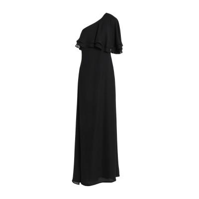 KI6? WHO ARE YOU? ロングワンピース&ドレス ブラック 38 100% ポリエステル ロングワンピース&ドレス