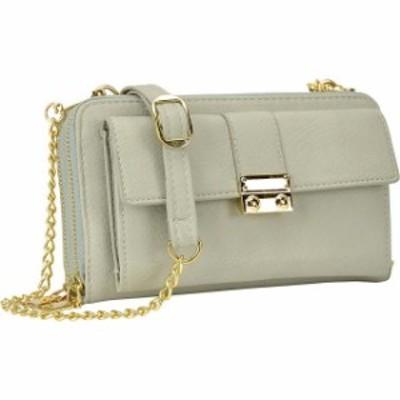 Dasein  ファッション バッグ Dasein Double Layer Zip Around Crossbody - Grey Cross-Body Bag NEW