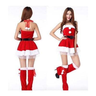 短納期サンタコスチュームサンタコスチューム /大きいサイズ/可愛いコスプレコスチュームクリスマス レディースサンタコスワンピ