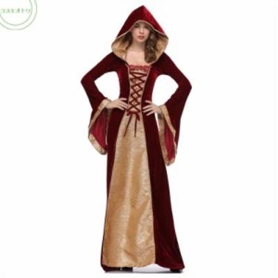 ハロウィン コスプレ復古中世紀ヨーロッパ宮廷風女王プリンセスお姫様ナイトドレスレディース  イベント衣装パーテイー衣装クリスマス