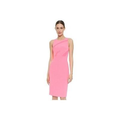 レディース ドレス・ワンピース ナルシソロドリゲス  NARCISO RODRIGUEZ ピンク ネオン INSET SHEATH ドレス サイズ:38 US:2