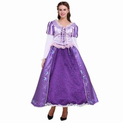 高品質 高級コスプレ衣装 ディズニー 塔の上のラプンツェル プリンセス オーダーメイド ドレス Tangled Rapunzel Luxury Princess Dress