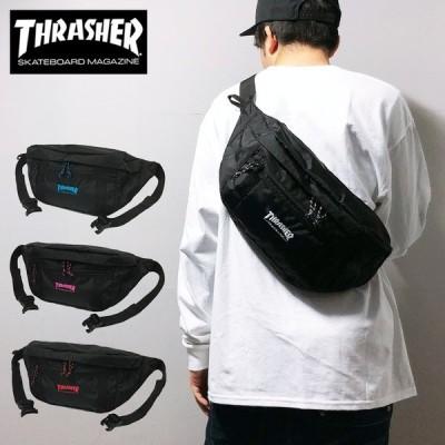 スラッシャー ウエストバッグ THRASHER メッセンジャーバッグ ショルダーバッグ ポーチ 送料無料 L ボディバッグ 斜めがけ メンズ レディース