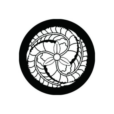 家紋シール 白紋黒地 黒田藤 布タイプ 直径40mm 6枚セット NS4-1231W