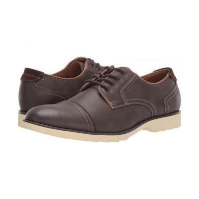 Dockers ドッカーズ メンズ 男性用 シューズ 靴 スニーカー 運動靴 Murray Cap Toe Oxford - Dark Brown Distressed Synthetic
