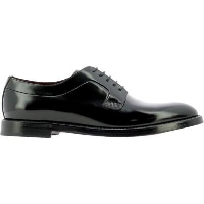 """ドルチェ&ガッバーナ Dolce & Gabbana メンズ 革靴・ビジネスシューズ レースアップ シューズ・靴 """"Derby"""" Lace-Up Shoes Black"""