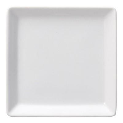 洋食器 角皿 / リズホワイト 5 1/2吋スクエアープレート 寸法:14 x 2cm 289g