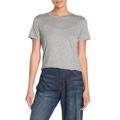 ヴィンス レディース カットソー トップス Crew Neck Shirttail T-Shirt H GREY