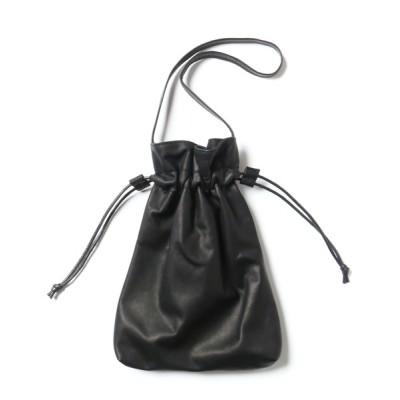 ability / MR.OLIVE ミスターオリーブ / E.O.I / WATER PROOF LIGHT LEATHER / DRAWSTRING BAG ウォータープルーフウォッシャブルレザー / 巾着鞄 ハンドバッグ トートバッグ / ME698 MEN バッグ > トートバッグ