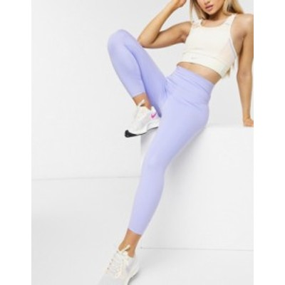 ナイキ レディース レギンス ボトムス Nike Training luxe one tight cropped leggings in lilac Lilac