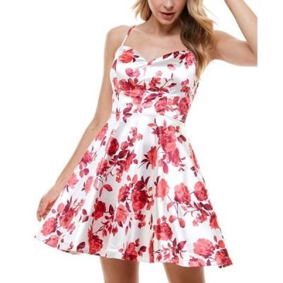 シティー スタジオ レディース ワンピース トップス Juniors' Floral Fit & Flare Dress