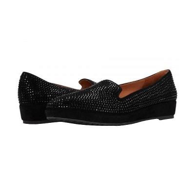 L'Amour Des Pieds レディース 女性用 シューズ 靴 ローファー ボートシューズ Correze - Black/Black