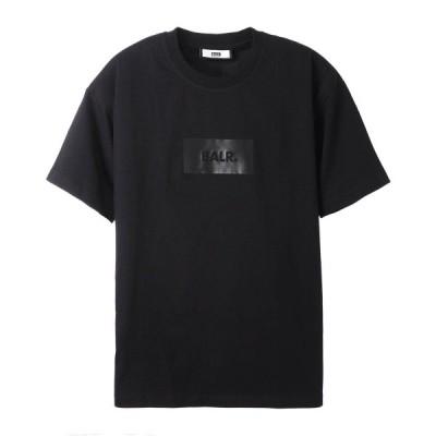 ボーラー BALR. クルーネック Tシャツ SATIN PRINT OVERSIZED FIT T-SHIRT ブラック メンズ satin-print-oversizedfit-tshirt-jetblack