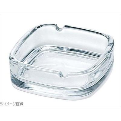 ガラス スクエアー 灰皿 クリア P−05536−JAN
