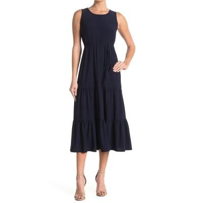 タッシュプラスソフィー レディース ワンピース トップス Sleeveless Tiered Midi Dress NAVY