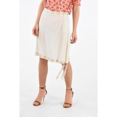 MAISON MARGIELA/メゾン マルジェラ White レディース ARTISANAL Skirt with Silk Details dk