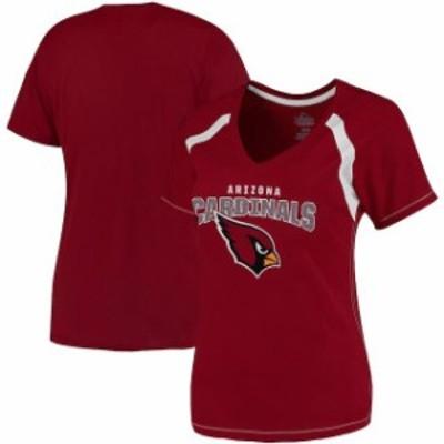 Majestic マジェスティック スポーツ用品  Majestic Arizona Cardinals Womens Cardinal Plus Size Game Day V-Neck T-Shi