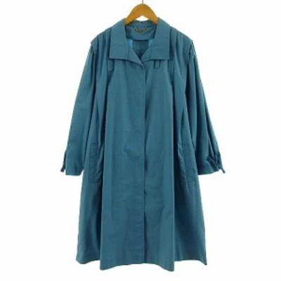 【中古】アグアマリーナ AGUAMARINA コート ハイカラー ステンカラー ブルー系 青系 M レディース