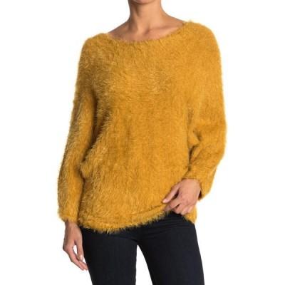 ウィッシュリスト レディース ニット&セーター アウター Open Tie Back Sweater MUSTARD