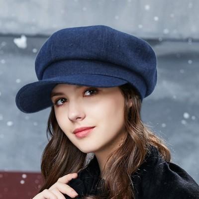 レディースハンチング秋冬ベレー帽帽子キャスケットハットキャップ小顔効果無地ハンチング帽可愛い