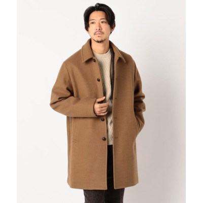 (GLOSTER/グロスター)Wool Blend Jersey ステンカラーコート/メンズ キャメル