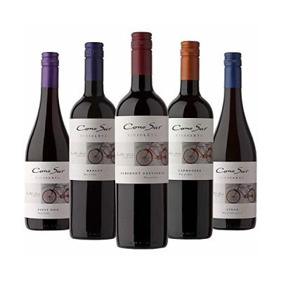 コノスル ビシクレタ 人気セパージュ 赤ワインだけ 5本飲みくらべ セット 750ml×5本